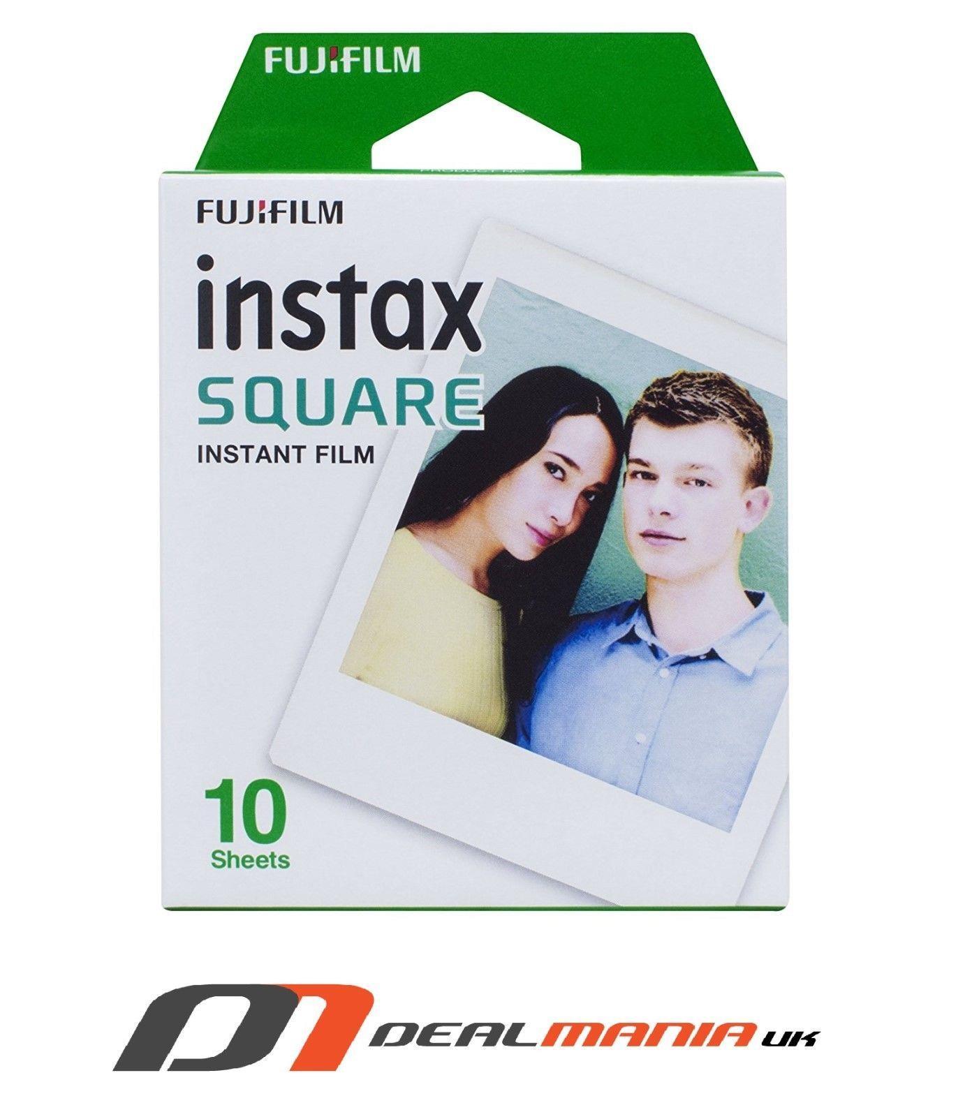 Fujifilm Instax Square Sq10 Instant Film White Pack Of 10 Paper Single