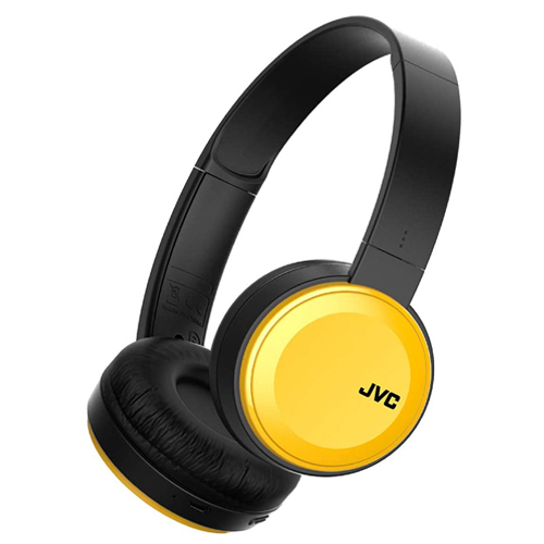 Main Pic - JVC On Ear Headphones, Deep Bass, Wireless Bluetooth, Rechargeable - Yellow - Deal Mania