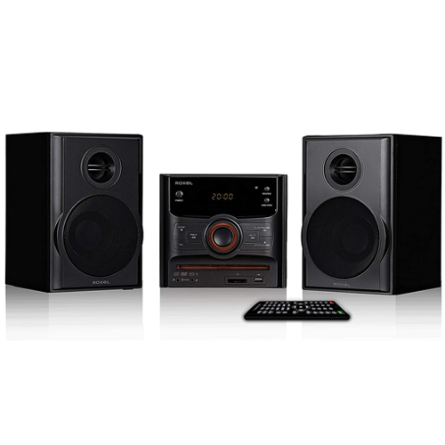Roxel RCD-250BT All in One Compact Micro Hifi CD Player, Mini stereo, DVD player, Karaoke, Bluetooth, Remote, FM, USB MP3, 40W